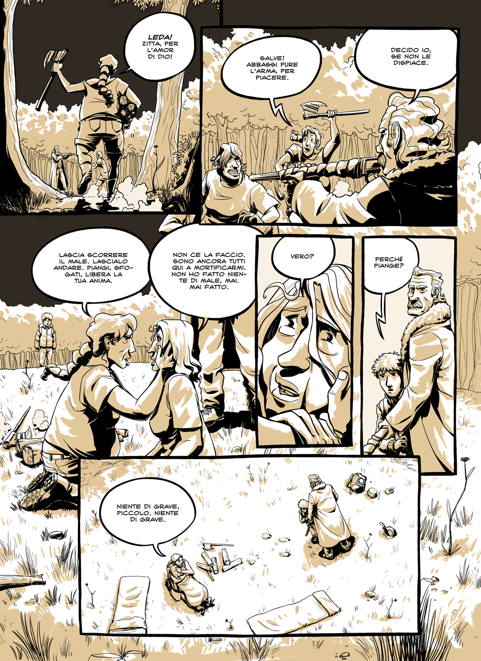 webcomics italia webcomic fumetto graphic novel fantascienza distopia postapocalittico ambientato in Italia avventura